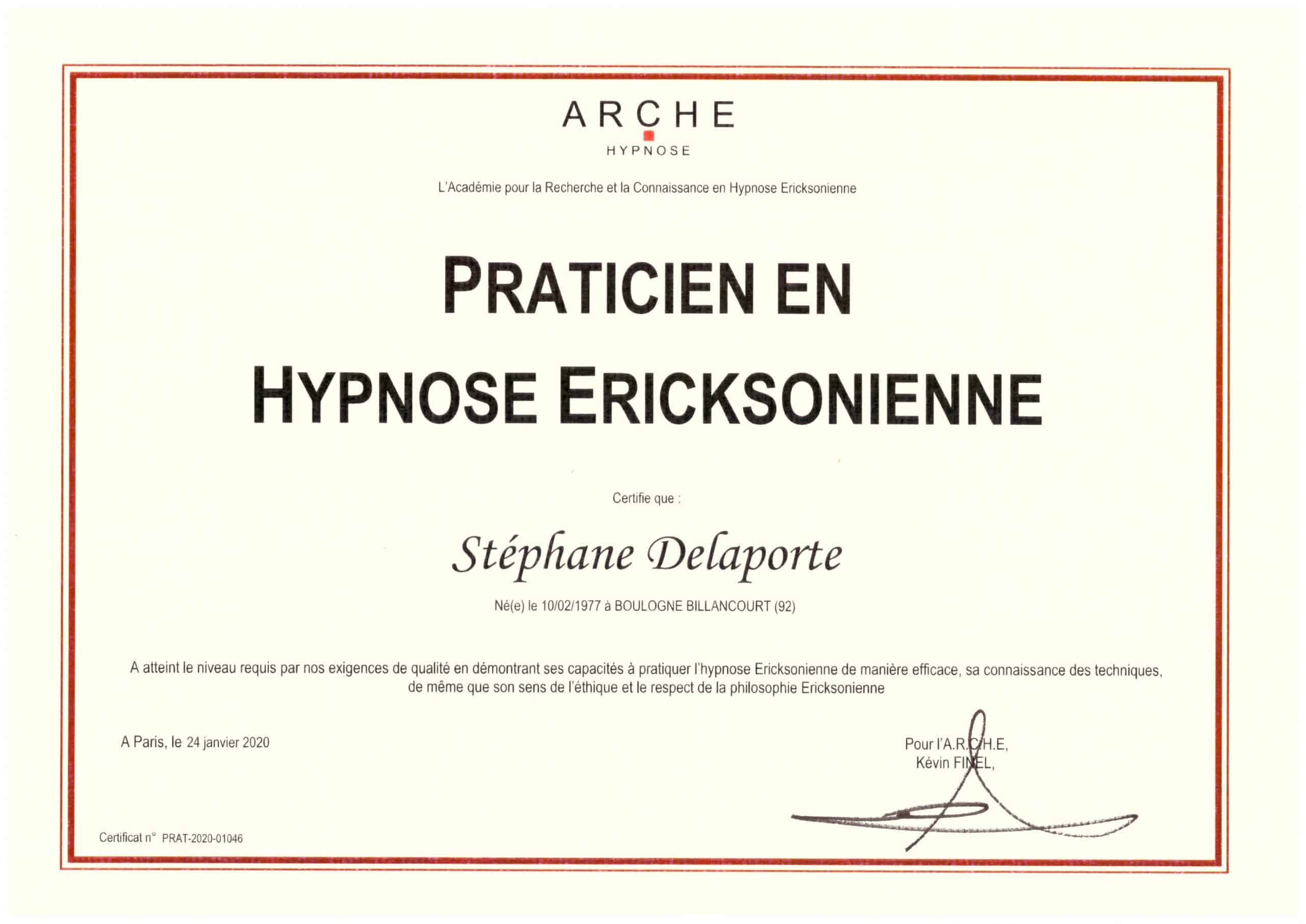 Certification Hypnose