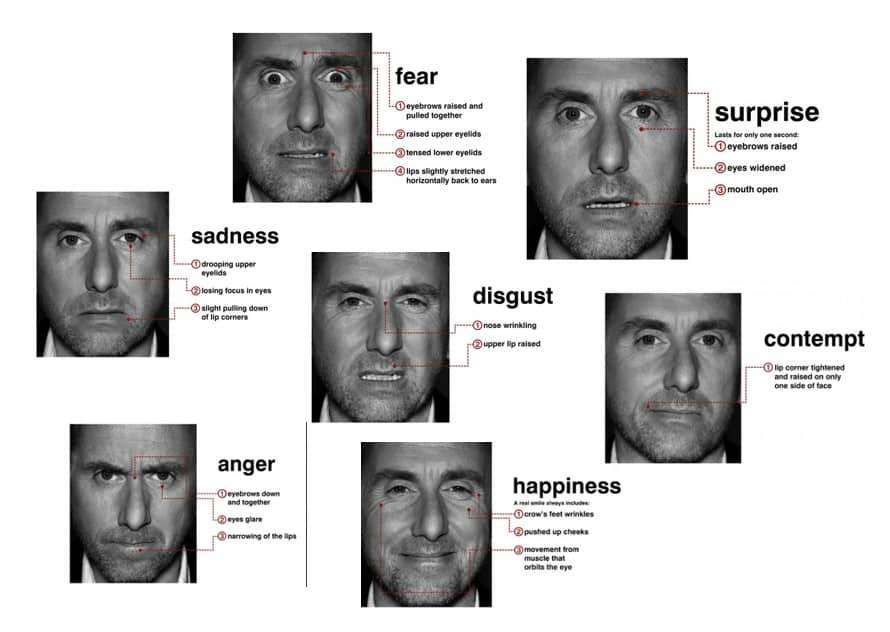 Emotions faciales Paul Ekman